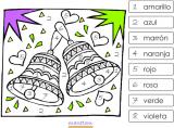 Coloriages codés à imprimer pour apprendre les couleurs en espagnol
