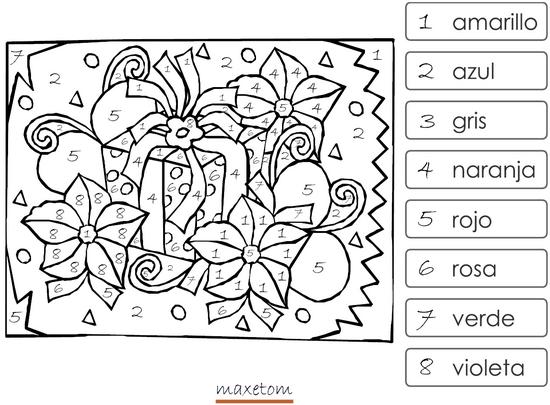 Coloriage cod imprimer 8 espagnol maxetom - Coloriage code ce1 ...