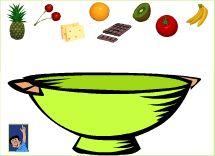 Trouve les ingrédients en o pour préparer le gâteau
