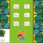 Complète les mots avec la bonne syllabe