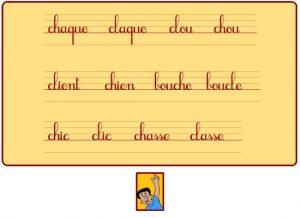 """Trouve les mots en """"ch"""""""