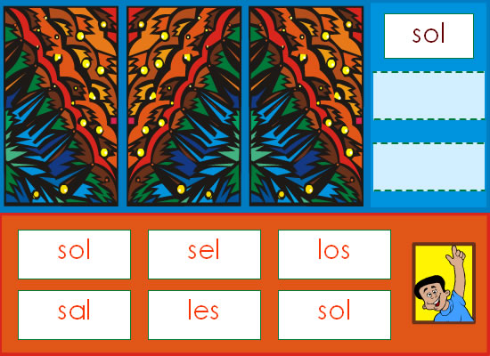 Trouve les syllabes identiques au modèle
