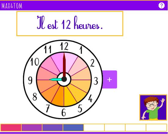 Jeu en ligne pour apprendre à lire l'heure - 5