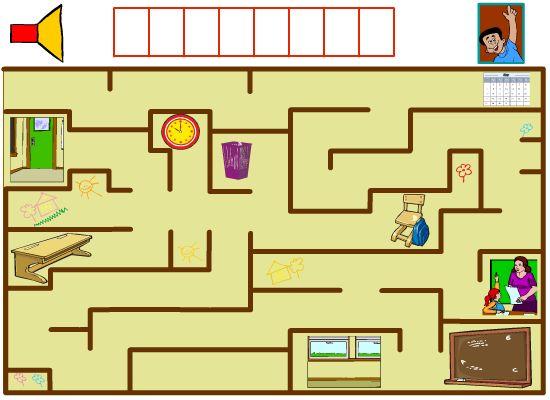 Jeu de labyrinthe pour apprendre l'anglais