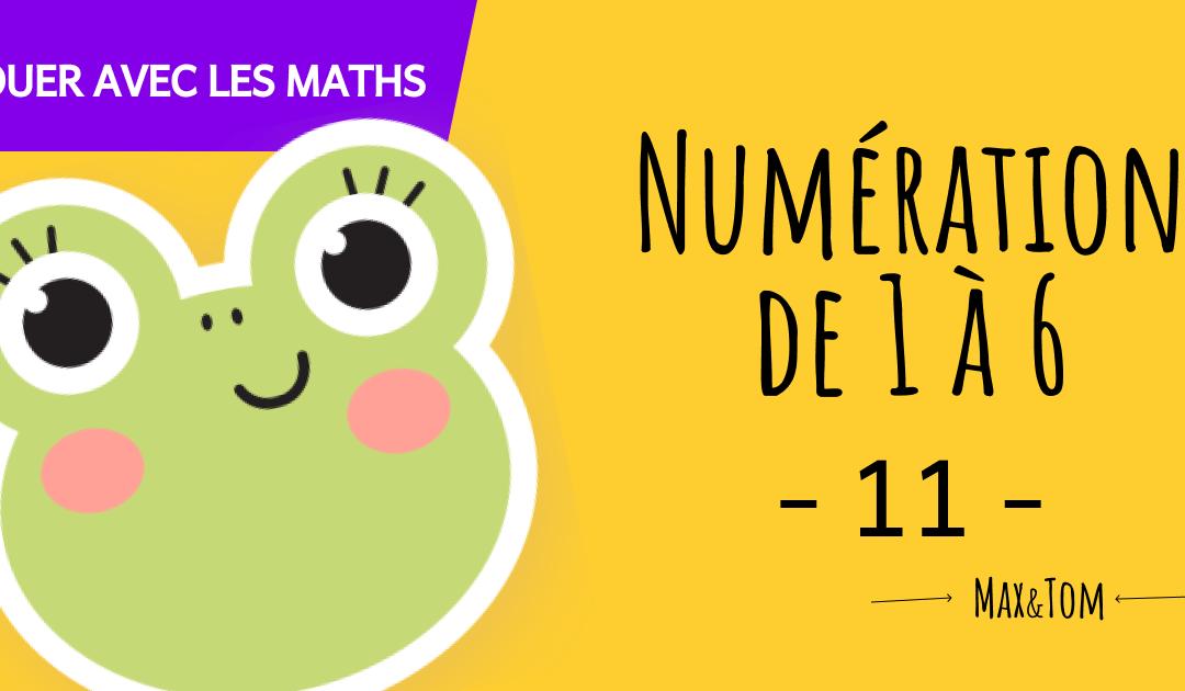 Fiche de numération à imprimer pour apprendre à compter jusqu'à 6