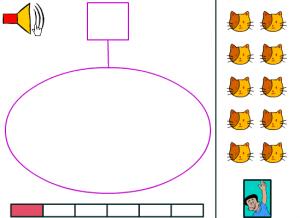 Déplace le nombre demandé à l'oral dans le cercle