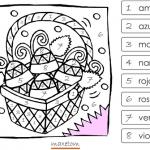 Coloriage codé à imprimer - Espagnol