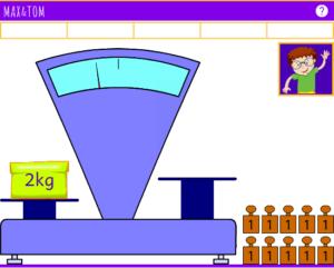 Apprendre à utiliser une balance - Pesées en ligne de 1 à 5 kg - 1
