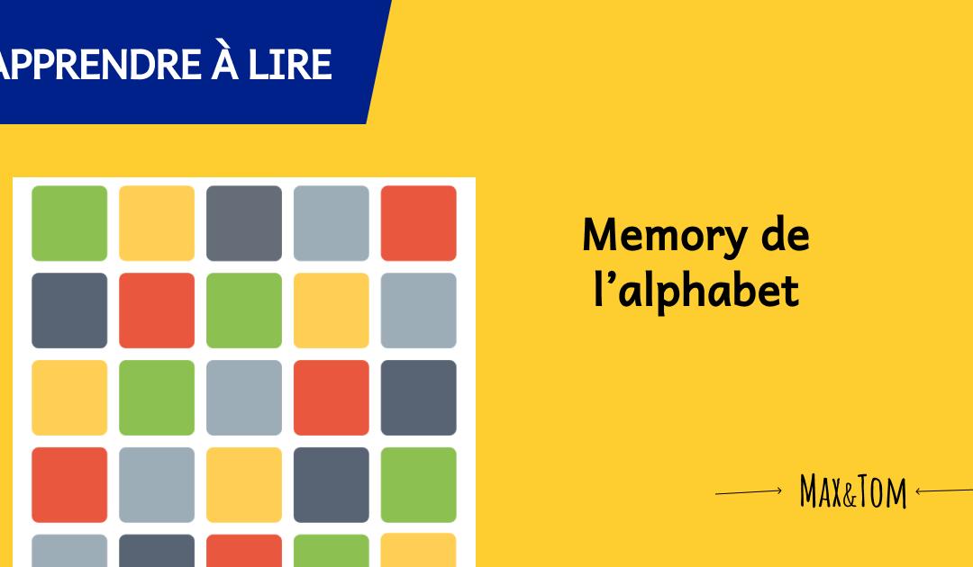 Jeux de memory pour apprendre les lettres de l'alphabet