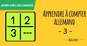 Apprendre à compter en allemand - 3