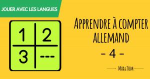 Apprendre à compter en allemand - 4