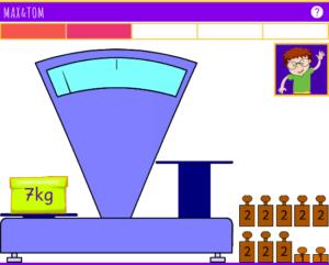 Exercice de Pesées en ligne de 2 à 7 kg - 1
