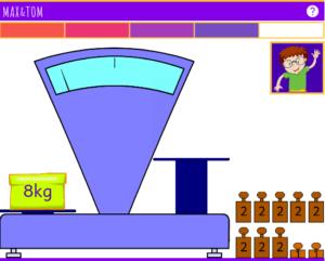 Exercice de Pesées en ligne de 3 à 8 kg - 1