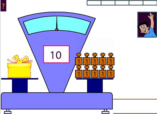 Decouvre la masse de la boite surprise