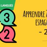 Apprendre à compter en espagnol - 2