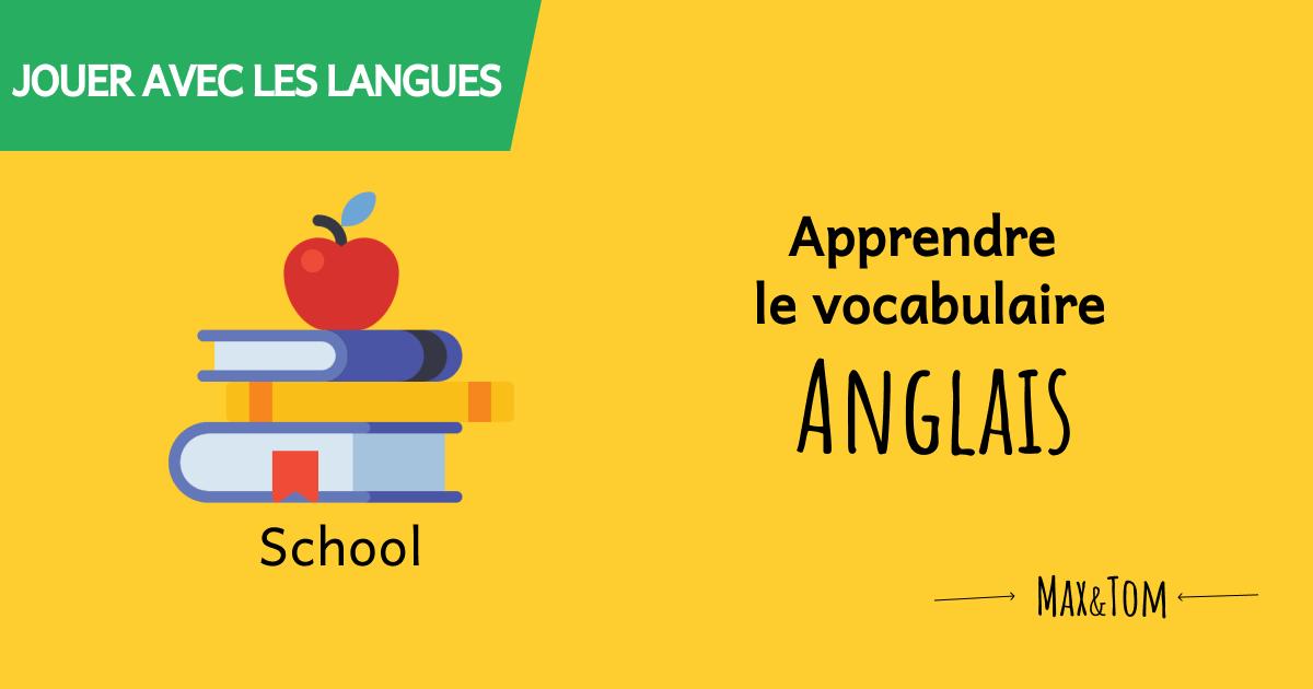 Jeux en ligne pour apprendre le vocabulaire de l'école en anglais