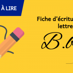 Fiche d'écriture de la lettre B à imprime