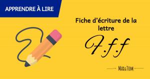 Fiche d'écriture de la lettre F à imprimer