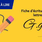 Fiche d'écriture de la lettre G à imprimer
